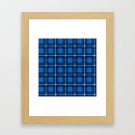 Scottish Tartan Blue Framed Art Print