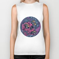 acid Biker Tanks featuring ACID TRIP by Robin Clarijs