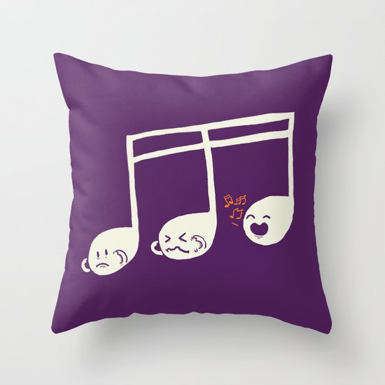 Sounds O.K. (off key) Throw Pillow