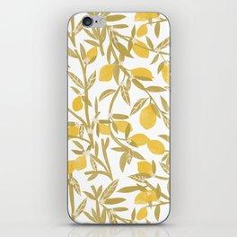 Lemon Pattern iPhone Skin