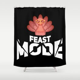 Turkey Day & Thanksgiving Graphic & Feast Day Mode & Happy Turkey Day Shower Curtain