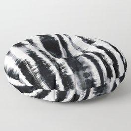 Tie-Dye Shibori Stripe BW Floor Pillow