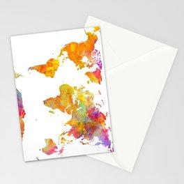 world map 23 Stationery Cards