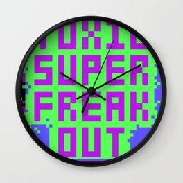 Toxic Super Freakout Wall Clock