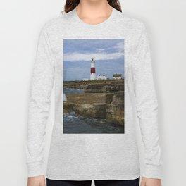 Portland Bill Lighthouse Dorset England Long Sleeve T-shirt