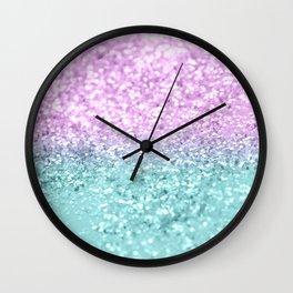 Mermaid Girls Glitter #2 #shiny #decor #art #society6 Wall Clock