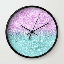 Mermaid Girls Glitter #2 #shiny #decor #art #society6 Wall Clock