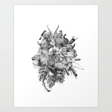 Kingdom of Monarchs (Black and White Version) Art Print