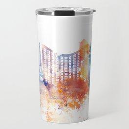 Las Vegas Watercolor Skyline Travel Mug