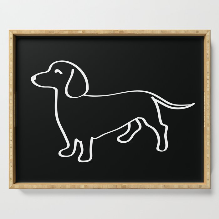 Doxie Love White Serving Tray