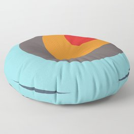 Brighid - Classic Colorful Abstract Minimal Retro 70s Style Dots Design Floor Pillow