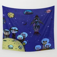 hunting Wall Tapestries featuring Interstellar hunting 2.0 by monicamarcov