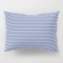 Minimal Line Curvature - Blue Pillow Sham