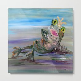 Frog Princess Metal Print