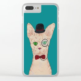 Mr. Cat Clear iPhone Case