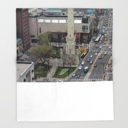 Chicago Water Tower Tilt Shift Color Photograph Throw Blanket
