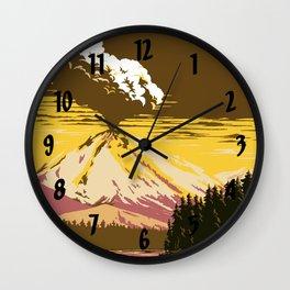 Vintage Lassen Volcanic National Park Wall Clock