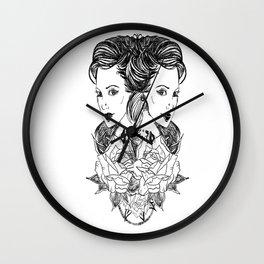flowers make everything better Wall Clock