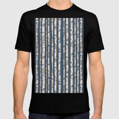 Into The Woods blue cream MEDIUM Black Mens Fitted Tee