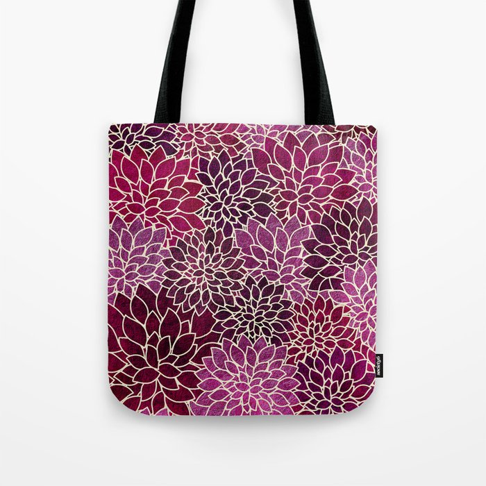 Floral Abstract 12 Tote Bag