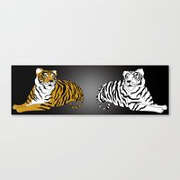 tigers Canvas Prints featuring Tigers by Christina Gulbrandsen