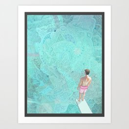 High Dive Art Print