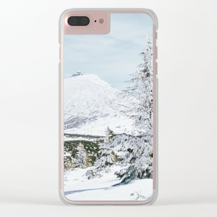 Sniezka Winter Mountains Clear iPhone Case