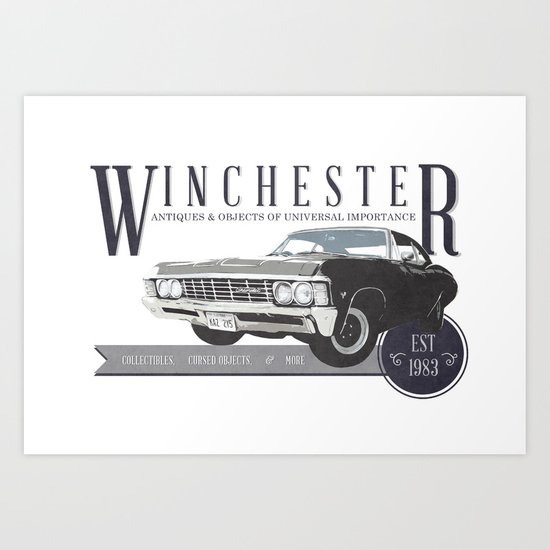 Supernatural : Winchester Antiques Art Print