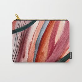 Rollercoaster [2]: a vibrant, mixed media abstract piece in blues, pinks, and purple Carry-All Pouch