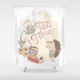 Tea Time with Harriet Hedgehog Shower Curtain