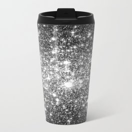 Black Slate Sparkle Stars Travel Mug