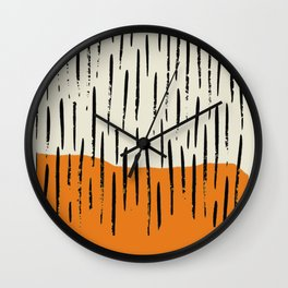 Lines abstract color box Wall Clock