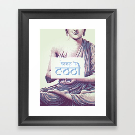 Keep it cool Framed Art Print