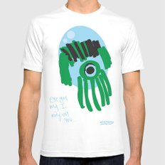 my eye is only on you [SQUID] [EYE]  Mens Fitted Tee White MEDIUM