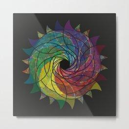 Razor Flower Metal Print