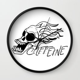 CAFFEINE Wall Clock