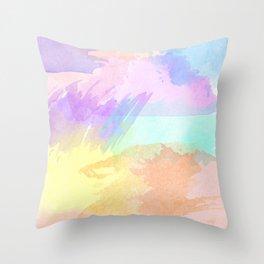 Watercolor Splash Throw Pillow