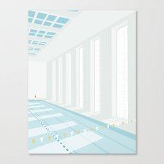 SVØMMEHAL Canvas Print