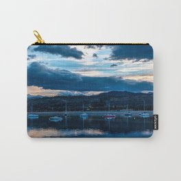 Sailboat Skyline // Dark Evening Blue Light on the Lake in the Alpine Carry-All Pouch
