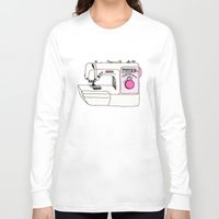 sewing Long Sleeve T-shirts featuring My Sewing Machine by The Wellington Boot