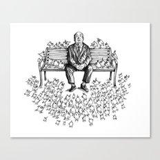 Them Birds - Pencil Part Canvas Print