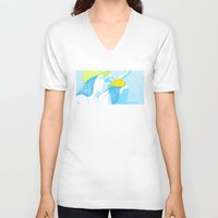 girls V-neck T-shirts featuring Girls by Camila Fernandez