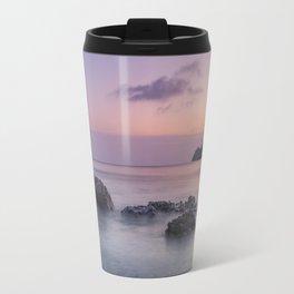Purple sea. Half Moon beach. Travel Mug