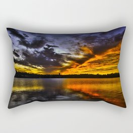 ice and Fire Sunset over Boston , MA Rectangular Pillow