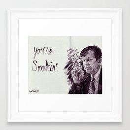 You're Smokin' // The X-Files Framed Art Print