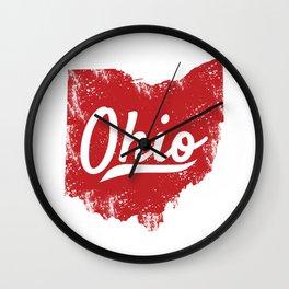 Ohio Gift I Love My Ohio Home Cleveland Cincinnati Akron OH Wall Clock