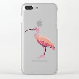 Kanji calligraphy art :Bird Clear iPhone Case