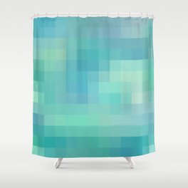 Re-Created Colored Squares No. 17 by Robert S. Lee Shower Curtain