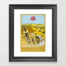Strade Bianche retro cycling classic art Framed Art Print
