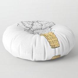 Volcano ice cream Floor Pillow